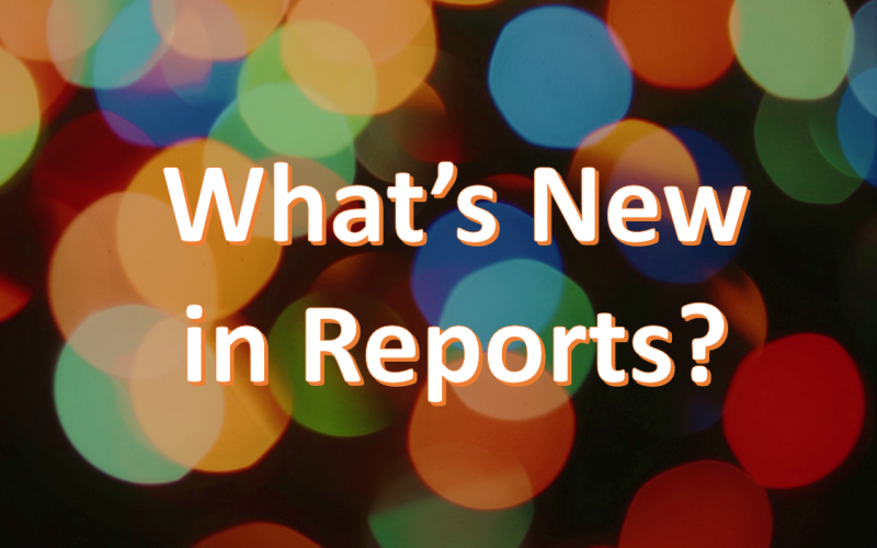 What's New Reports